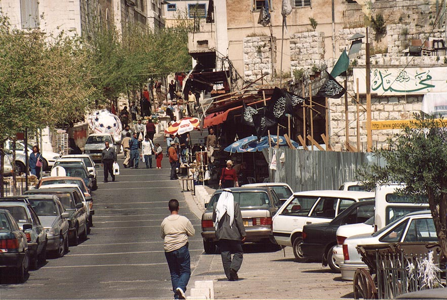 A street leading to the Church of Annunciation. Nazareth, the Middle East
