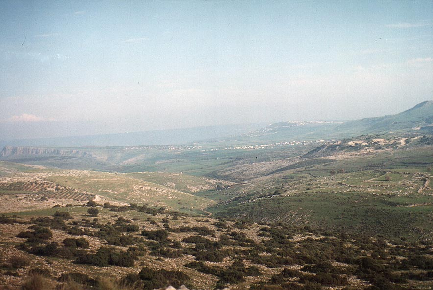 Hills of Galilee north from Lake Kinneret. The Middle East