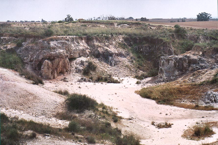 Sulphur mines south-west from Beeri Reserve, 5 miles north from Gaza city. The Middle East