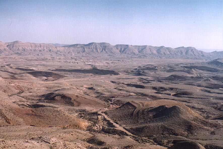 Makhtesh Gadol (Big Crater), view from Rd. 225. The Middle East