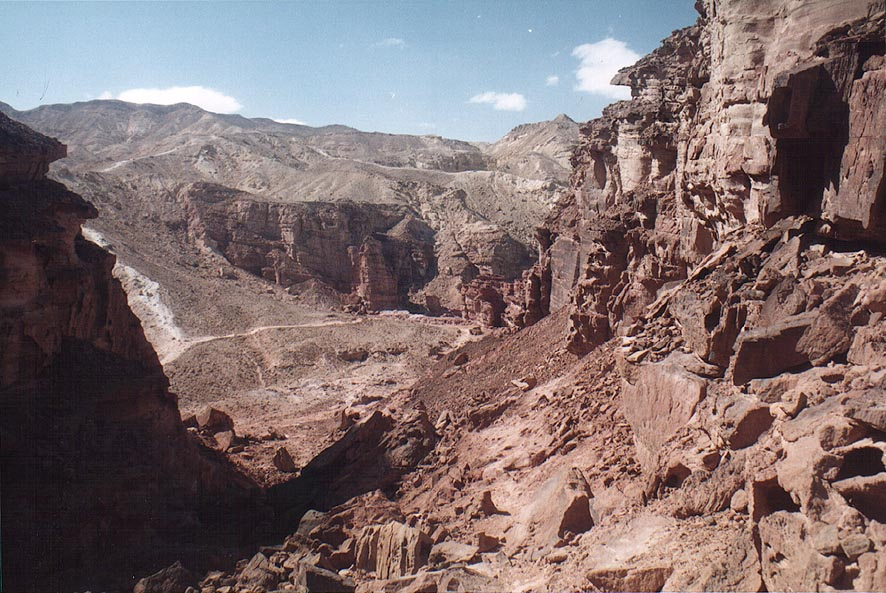 A passage west from Mount Amir, 5 miles north from Eilat. The Middle East