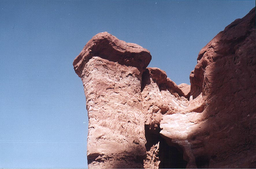 A sandstone pillar at a passage west from Mount...north from Eilat. The Middle East
