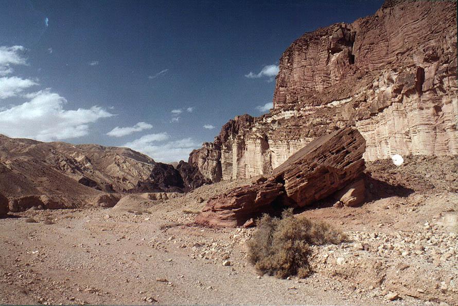 Sandstone cliffs at the foot of Mount Amir, 5 miles north from Eilat. The Middle East