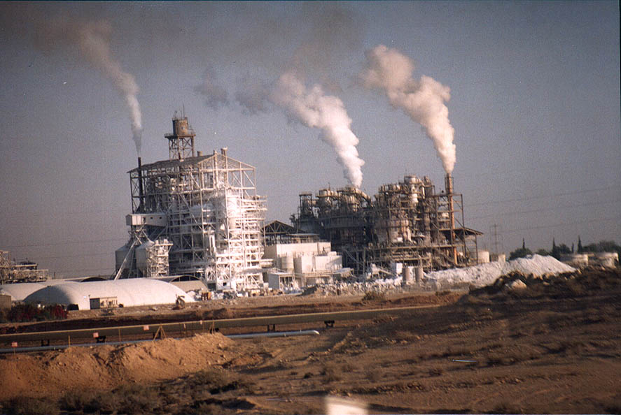 Rotem Fertilizers plants near Zafit junction at...from Dimona to Arava. The Middle East