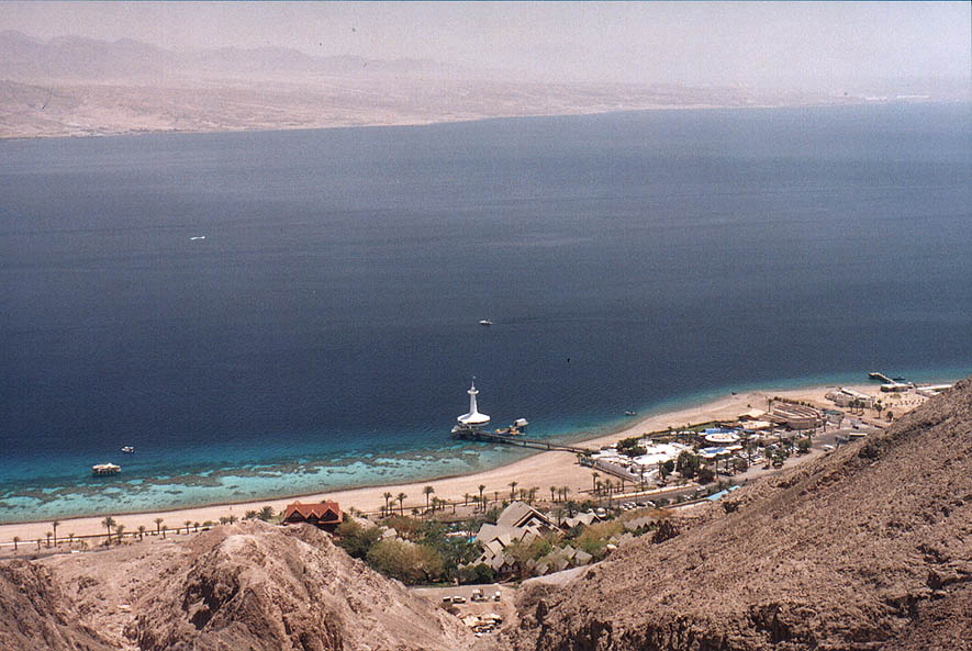 Aquarium and coral beaches south from Eilat from...the Field School. The Middle East