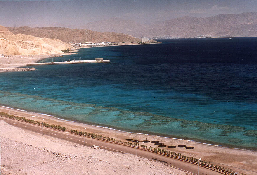 Red Sea and deserted coral beaches around 2 miles south-west from Taba. Egypt