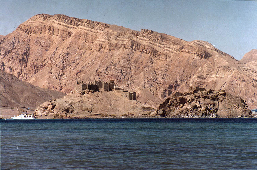 The Gulf of Aqaba, Pharaoh's Island, and Sinai...4 miles south-west from Taba. Egypt