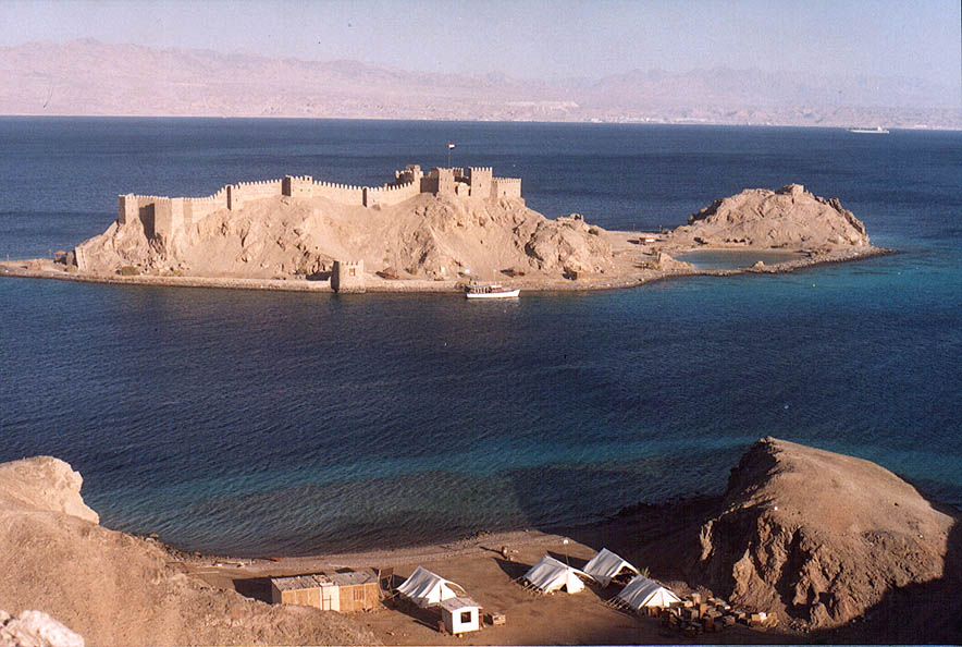 Egyptian marines camp and Pharaoh's Island in the...3 miles south-west from Taba. Egypt