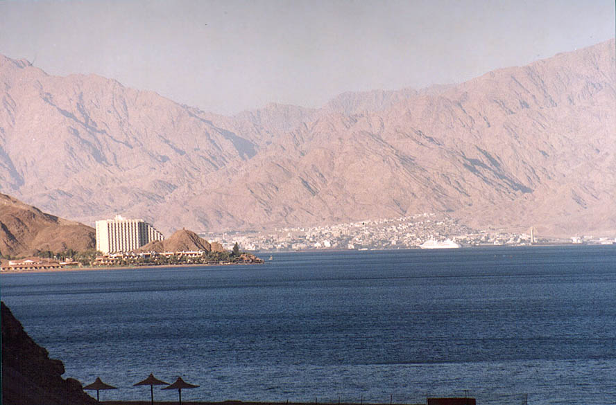 The Gulf of Aqaba of the Red Sea near Taba. Egypt