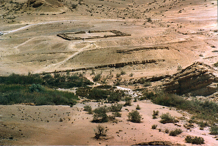 Fort Ein Sakharonim in Ramon Crater. The Middle East