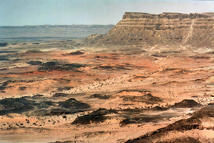 Mount Ardon in Ramon Crater. The Middle East