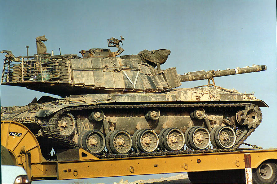 Magach 6B Gal tanks heading to Gaza Strip from...in Mitzpe Ramon. The Middle East