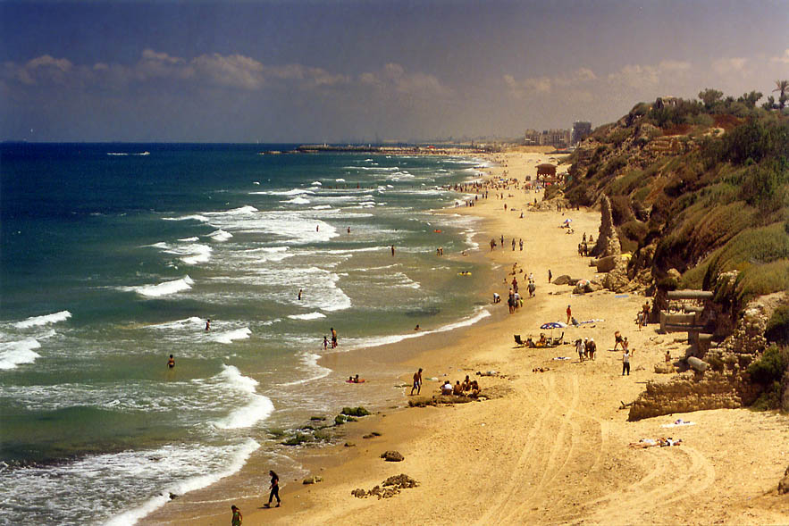A beach in southern Ashkelon. The Middle East