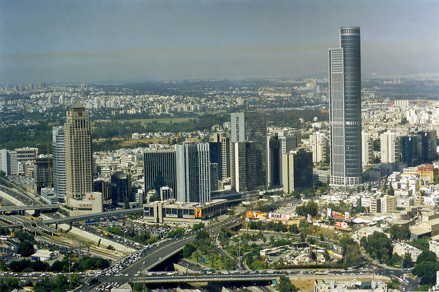 Ramat Gan area in northern Tel Aviv (good target...from Azrieli Tower. The Middle East