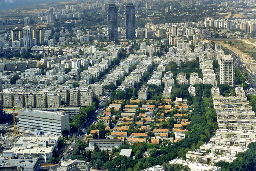 Northern Tel Aviv, view from Azrieli Tower. The Middle East