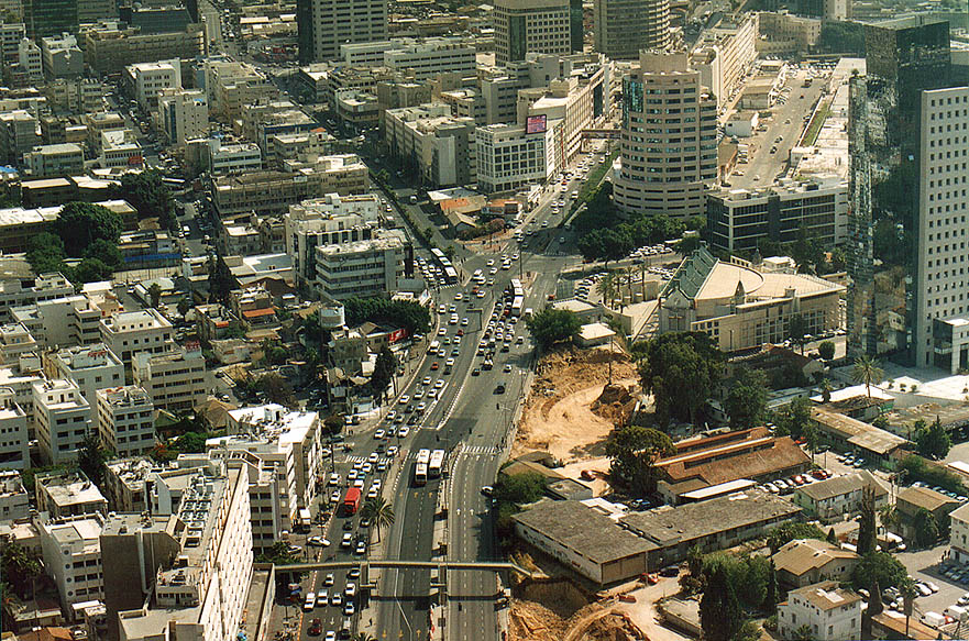 View to the north from Azrieli Tower. Tel Aviv, the Middle East