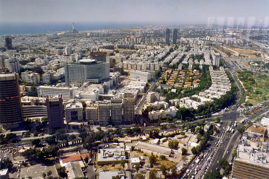 Northern Tel Aviv from Azrieli Tower. Tel Aviv, the Middle East
