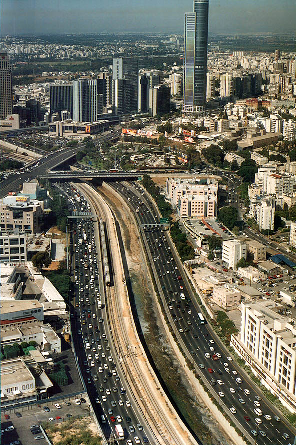 View to the north from Azrieli Tower (Ayalon...Ramat Gan). Tel Aviv, the Middle East