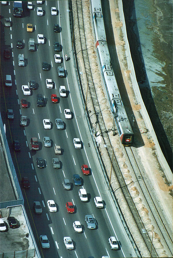 Ayalon Rd. from Azrieli Tower. Tel Aviv, the Middle East
