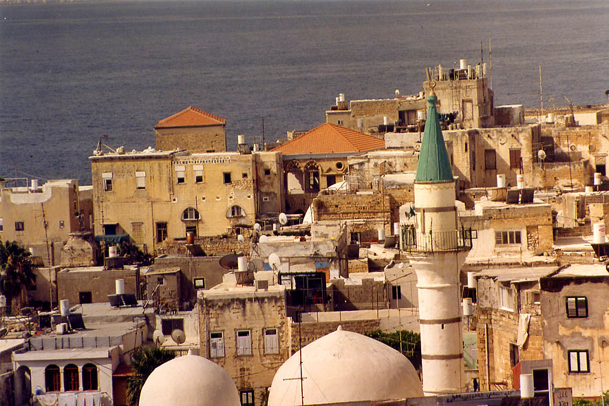 Old City and the bay, view from Citadel. Akko, the Middle East