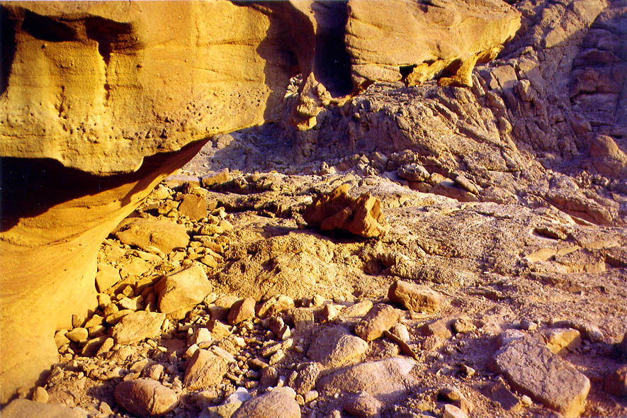 Geological Trail in Timna Park at early morning...north from Eilat, the Middle East