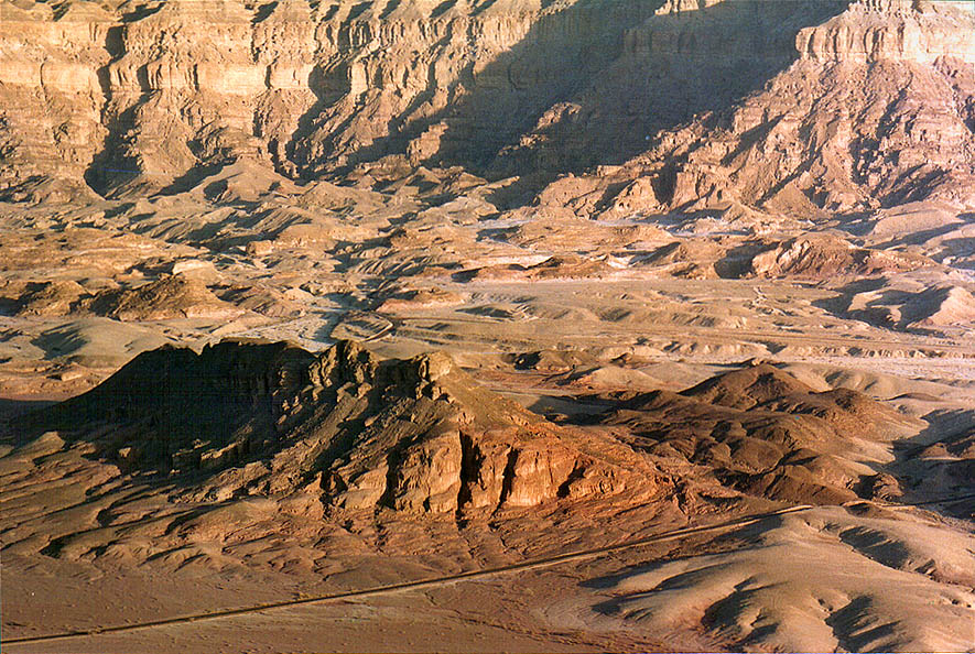 View of area of ancient copper mines from Timna...north from Eilat, the Middle East