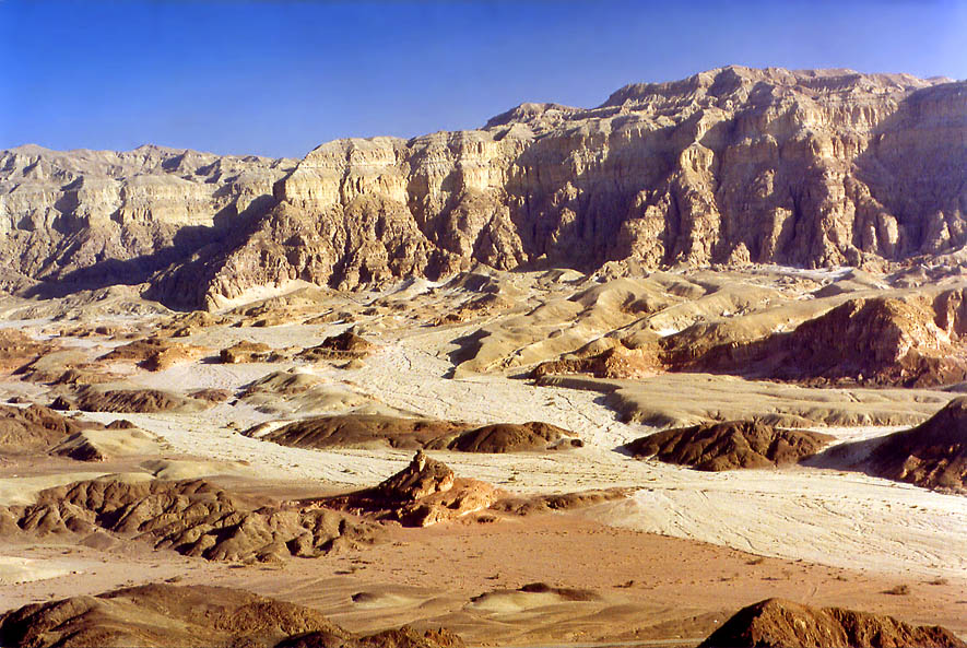 General view of hills and Timna Cliffs north from...north from Eilat, the Middle East