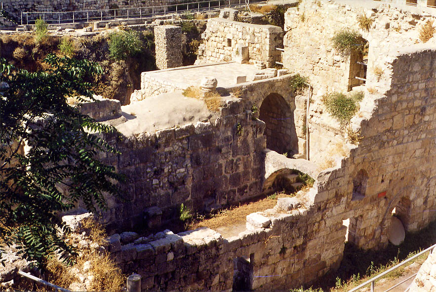 Excavations of a Byzantine church behind St.Anne monastery. Jerusalem, the Middle East