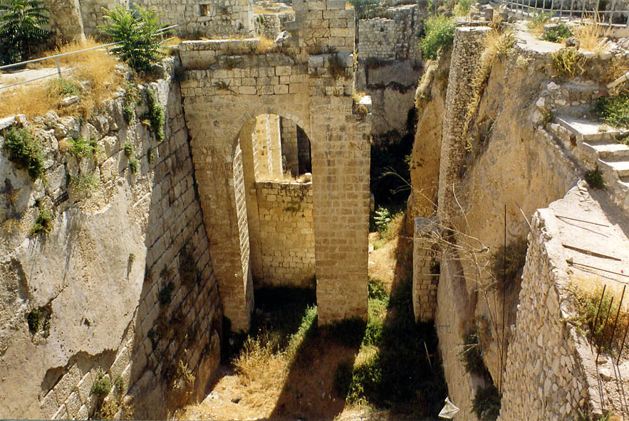 Ruins of a Byzantine church behind St.Anne monastery. Jerusalem, the Middle East