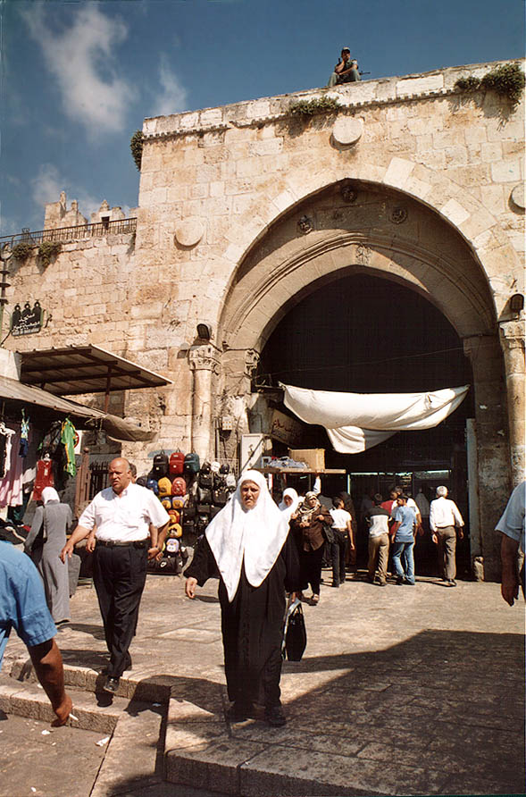 Damascus Gate in Old City. Jerusalem, the Middle East