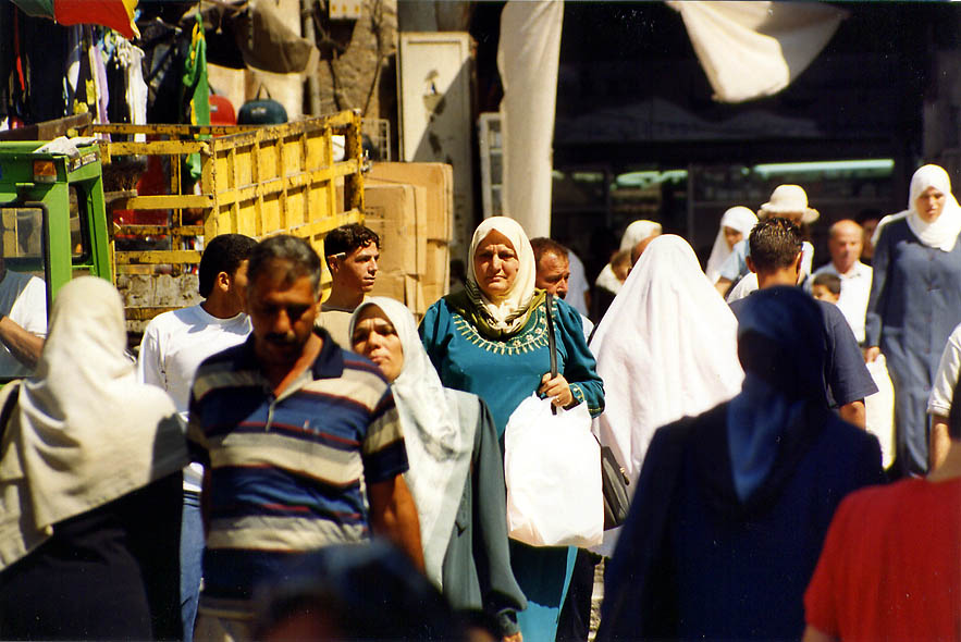 Near Damascus Gate in Old City. Jerusalem, the Middle East