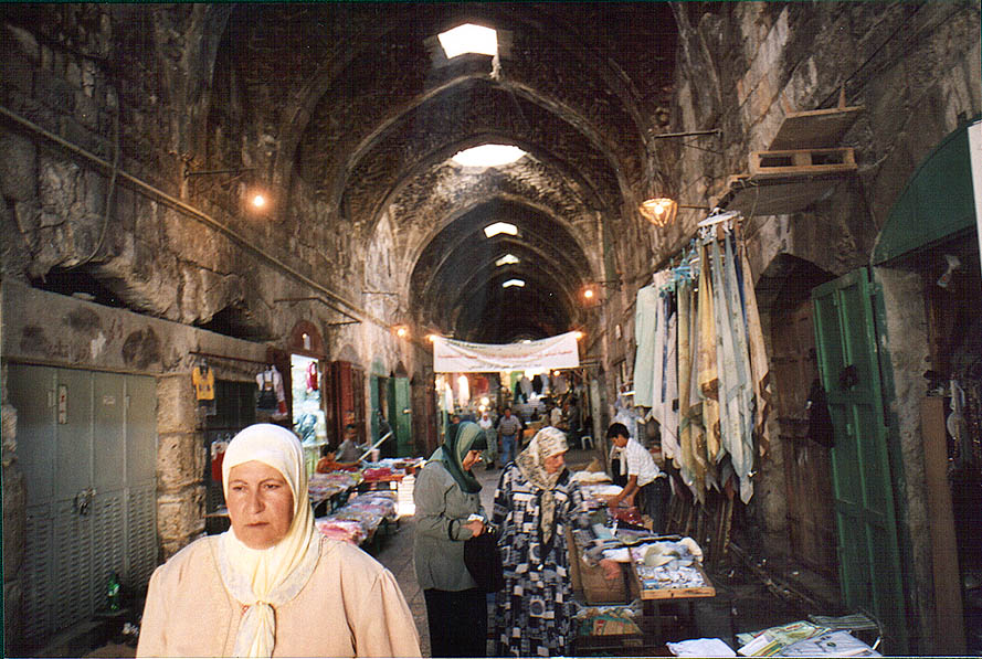 Cotton Market in Old City. Jerusalem, the Middle East