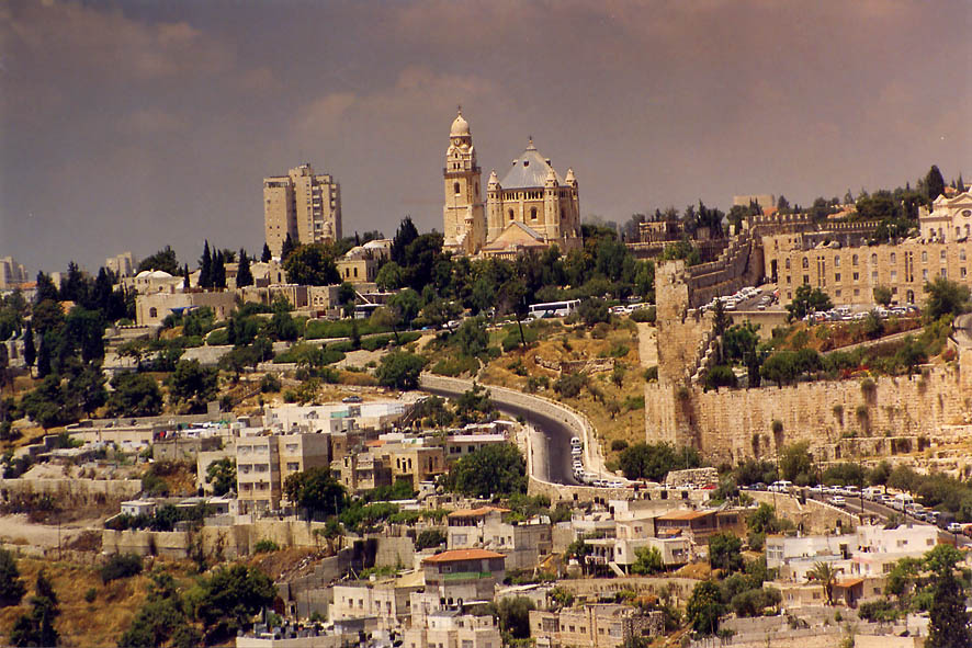 City of David and Mount Zion from Mount of Olives. Jerusalem, the Middle East