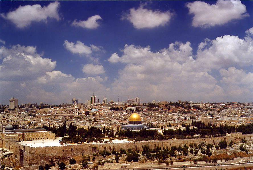 Old City from Mount of Olives. Jerusalem, the Middle East