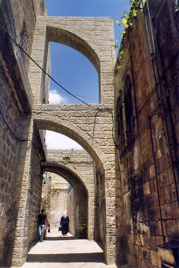 Moslem Quarter of Old City. Jerusalem, the Middle East