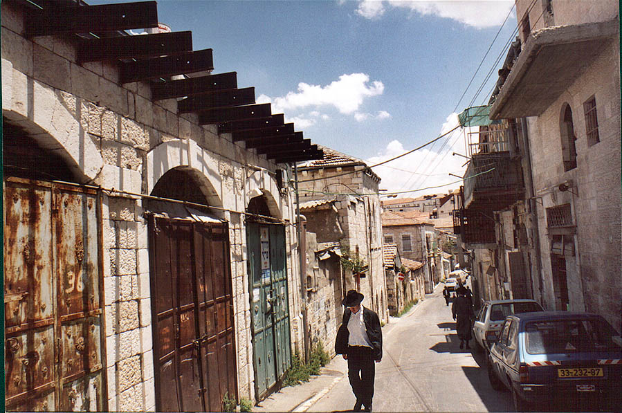 HaRav Zonenfeld St. in orthodox neighborhood of Beit Israel. Jerusalem, the Middle East
