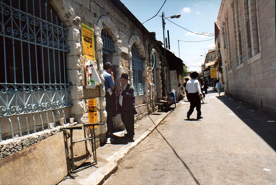 Yoel St. in orthodox neighborhood of Beit Israel. Jerusalem, the Middle East