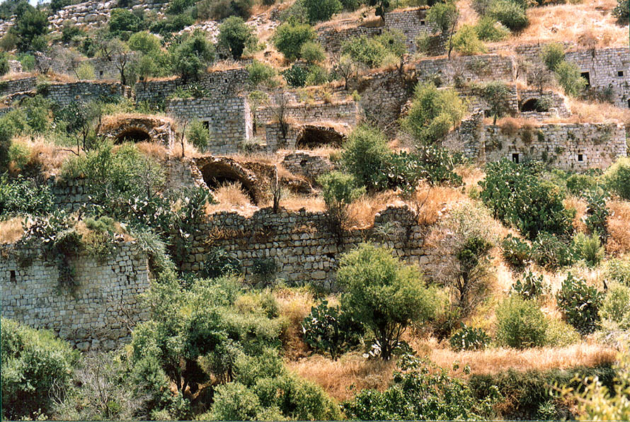 Remains of a Lifta (Mei Niftoah) village at western entrance to Jerusalem. The Middle East
