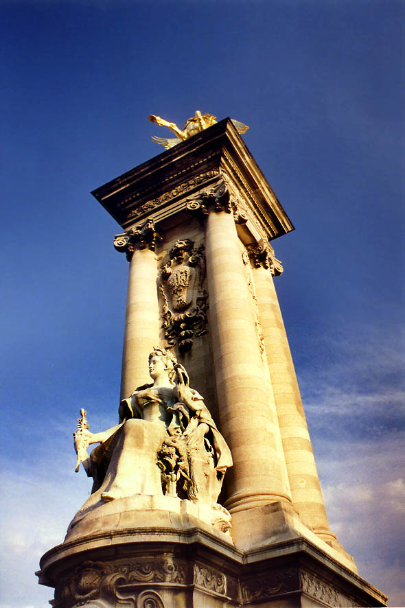 Paris  - Pont Alexandre III bridge. Paris