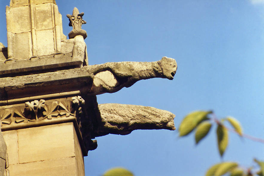 Gargoyles of St-Gervais cathedral. Paris