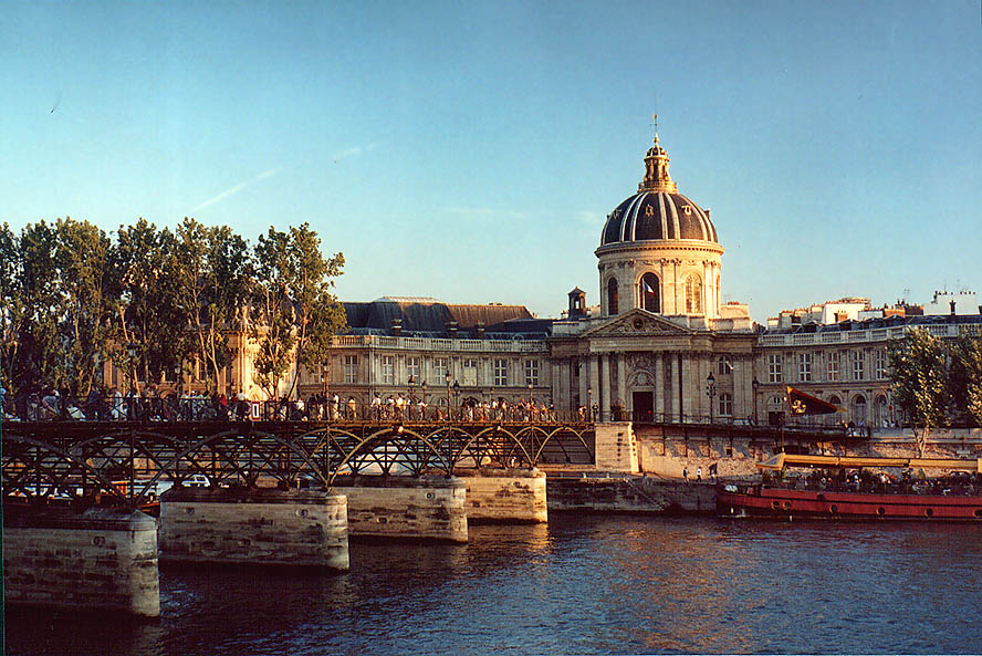 Pont des Arts and Inst. of France. Paris