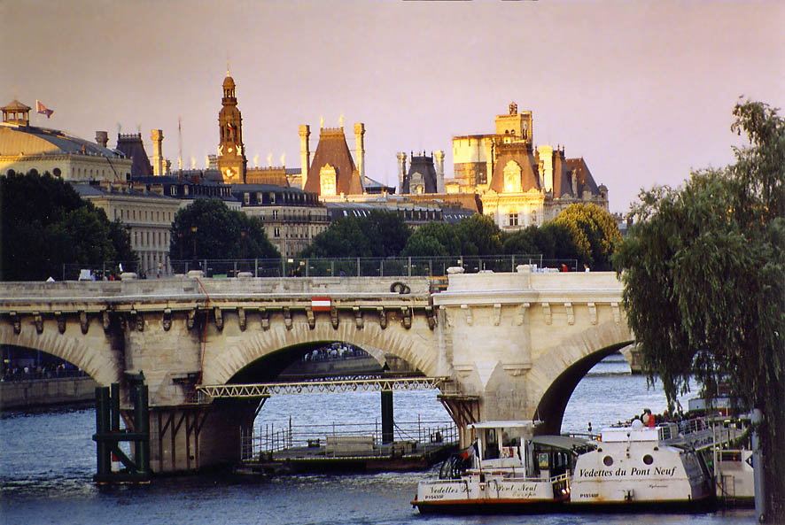 Paris  - East from Pont des Arts. Paris