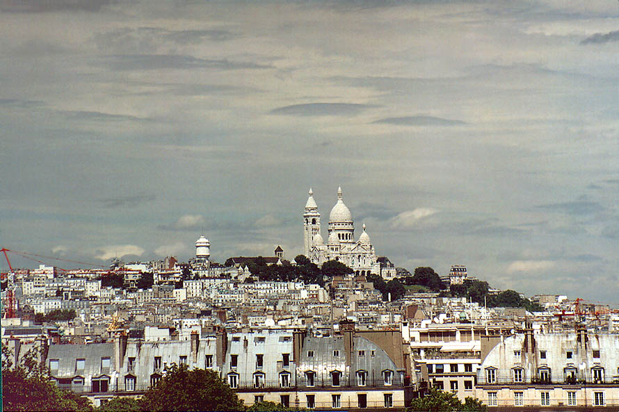 Monmartre from open terrace of Museum d'Orsay. Paris