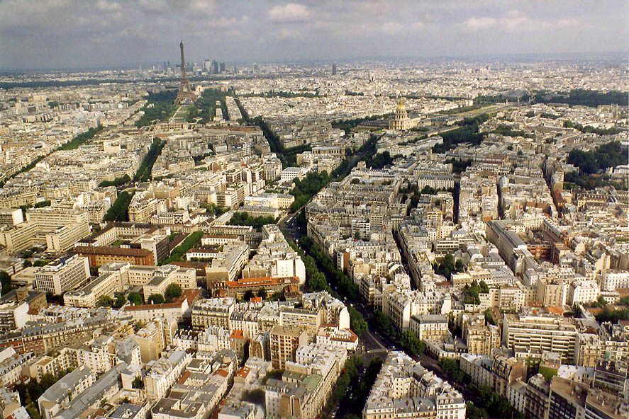Paris  - View from Tower Montparnasse. Paris