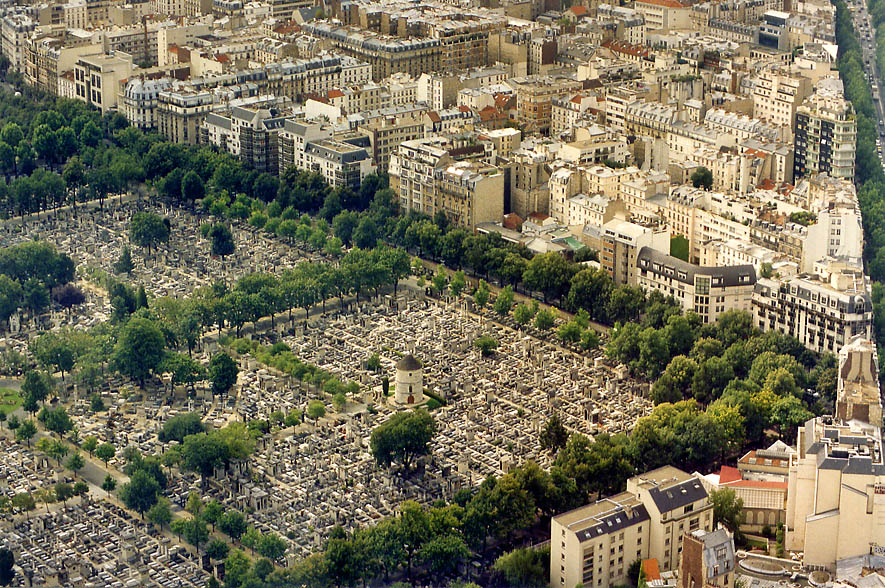 Montparnasse Cemetery from Tower Montparnasse. Paris