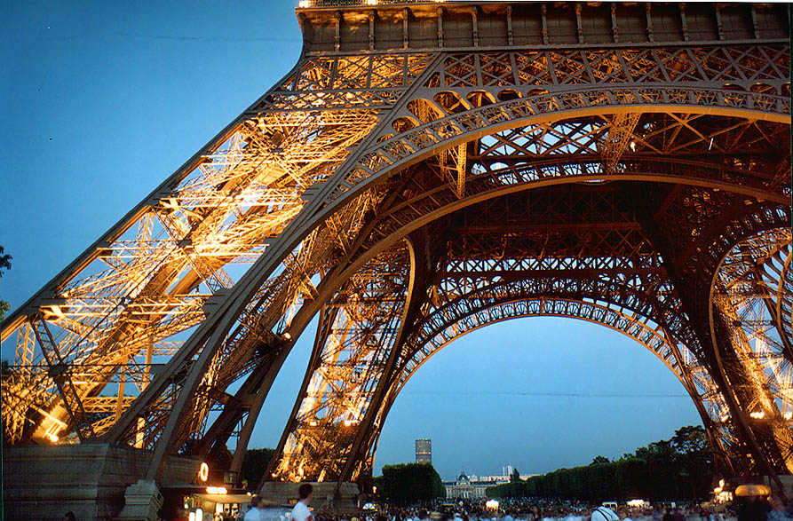 Paris  - Eiffel Tower at evening. Paris