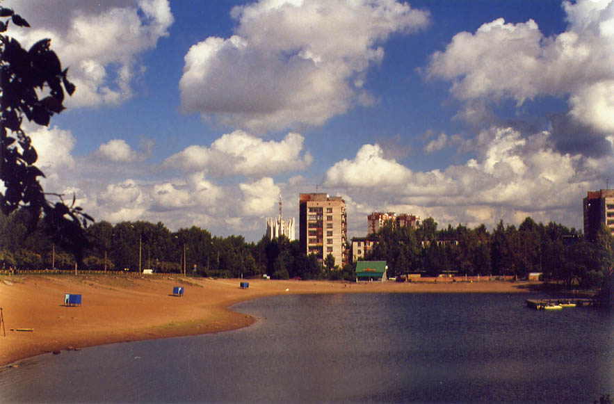 Olginskiy Pond in northern St.Petersburg, Russia