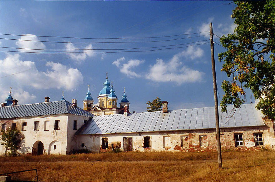 Side view of Konevets Monastery, 80 miles north from St.Petersburg. Russia