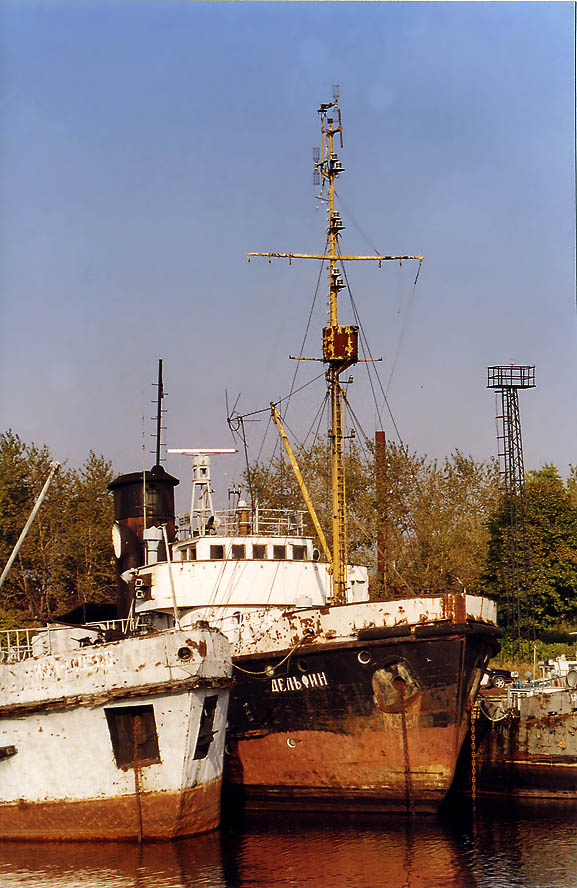 "Soviet military ship ""Dolphin"" in Vladimirskaya...miles north from St.Petersburg. Russia"
