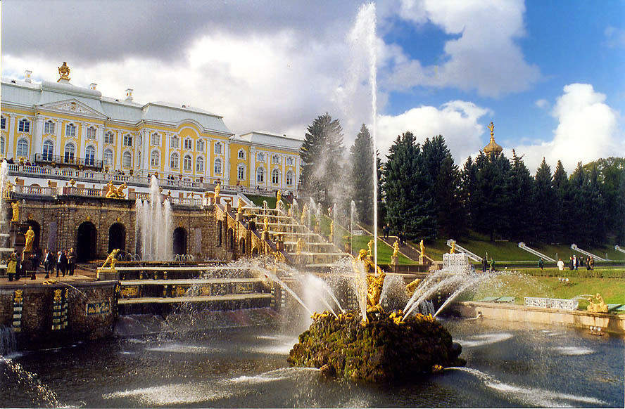 Samson fountain in Peterhof, a former Tsar...now a suburb of St.Petersburg. Russia